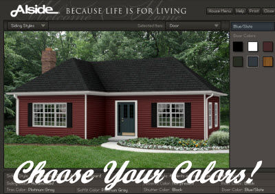 Charming Click The Image Above To Create Your Custom House. Choose Your Roof Color,  Vinyl Color And Even Your Shutters!